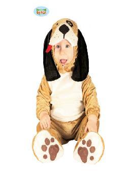 disfraz de perrito marrón bebé. Hará que el más pequeño de la familia quiera ladrar de felicidad. Todos querrán adoptarlo cuando lo vean en Festivales Escolares. Este disfraz es ideal para tus fiestas temáticas de animales para infantil.