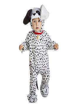 Este disfraz de perro dalmata para bebe es ideal para que tu hijo sea el que vaya más calentito. Cuando vayais en familia no pasareis nada de frio para tus fiestas de disfraces de animales ya que es super original y podreis combinarlo cuando vayais en grupo.