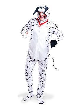 Este disfraz de perro dalmata para hombre es super gracioso y original para disfrazarse en grupo o con la cruela de vil. Donde en las fiestas de disfraces de animales adultos te lo pasaras de lo más perruno con tu mascota de los 101 dalmatas de la pelicula más conocida y sobre todo este perro calentito.