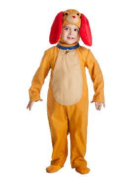 disfraz de perro naranja niño
