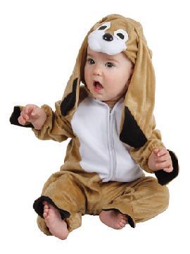 Disfraz de perro orejón para bebé. Hará que el más pequeño de la familia quiera ladrar de felicidad. Todos querrán adoptarlo cuando lo vean en Festivales Escolares. Este disfraz es ideal para tus fiestas temáticas de animales para infantil. fabricacion nacional