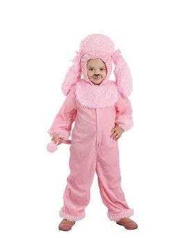 disfraz de perro rosa bebe