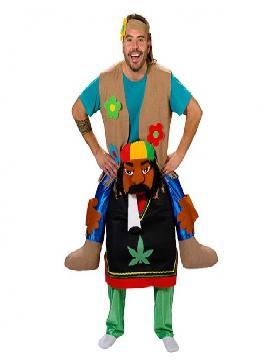 disfraz de perroflauta adulto. Es ideal para tus fiesta de tematica hippie seras el animal mas original de las fiestas en carnaval y en despedidas de soltero. fabricacion nacional