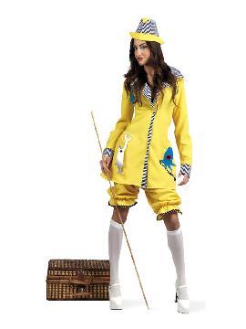 disfraz de pescadora divertida mujer