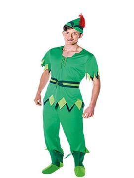 disfraz de peter pan para hombre adulto. Este comodísimo traje es perfecto para buscar a tu campanilla en carnaval, espectáculos, cumpleaños y fiestas tematicas. Este disfraz es ideal para tus fiestas temáticas de disfraces de famosos y cuentos adulto.