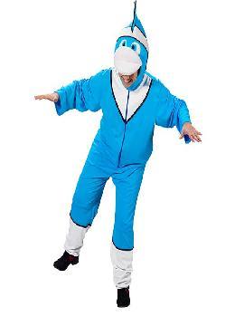 disfraz de pez azul divertido adulto. Podrás transformarte en el sobrepotector Marlin, el padre del pequeño Nemo, enfundate en tu disfraz y emprende la busqueda del famoso buscando a dori de la película de Disney Pixar. En fiestas tematicas y carnaval. Este disfraz es ideal para tus fiestas temáticas de disfraces de animales para hombre y mujer adultos.