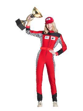 disfraz de piloto de coches mujer