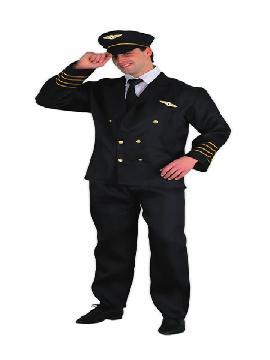 disfraz de piloto de vuelo para hombre. No habrá turbulencia que se te resista .Es un disfraz ideal para Fiestas Temáticas, Despedidas de Soltero o Carnavales.