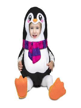 disfraz de pinguino con bufanda bebe