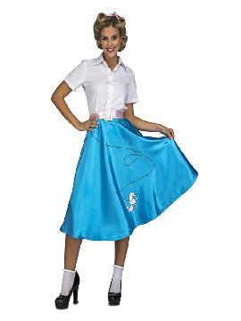 disfraz de pink lady azul para mujer