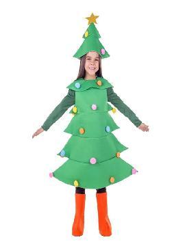 disfraz de pino o arbol de navidad infantil