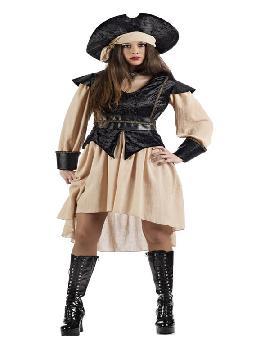 disfraz de pirata anne deluxe mujer