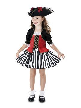 disfraz de pirata anne para niña