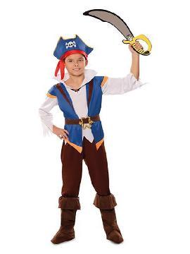 disfraz de pirata azul para niño