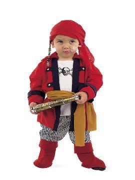 disfraz de pirata bucanero bebe. Los más pequeños de la familia se convertirán en auténticos bucaneros y se divertirán viviendo mil aventuras con sus amigas en Fiestas de la Guardería. Este disfraz es ideal para tus fiestas temáticas de piratas y corsarios infantil.