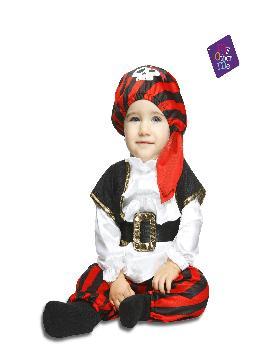 disfraz de pirata calaveras bebe