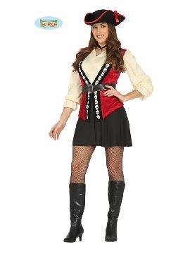 disfraz de pirata calaveras mujer