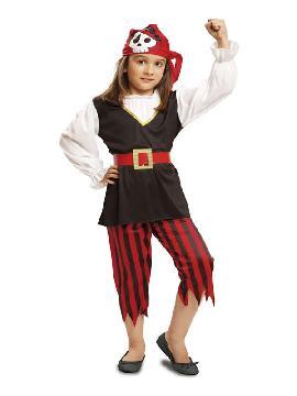 disfraz de pirata calaveras niña