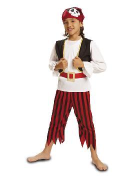 disfraz de pirata calaveras niño