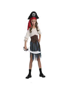 disfraz de pirata caribeña niña