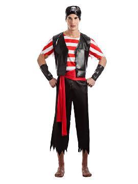 disfraz de pirata chaleco hombre
