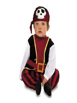 disfraz de pirata con pañuelo bebe