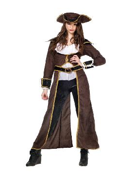 disfraz de pirata corsaria deluxe mujer