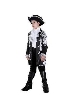 Disfraz de pirata dandy niño. Los más pequeños de la familia se convertirán en auténticos bucaneros y se divertirán viviendo mil aventuras con sus amigas en Fiestas de la Guardería. Este disfraz es ideal para tus fiestas temáticas de piratas y corsarios para infantil.