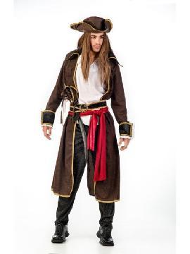 disfraz de pirata deluxe hombre. Puedes disfrazarte por tu cuenta o combinarte con tu pareja corsaria para abordar con salvaje simpatía el Carnaval.Este disfraz es ideal para tus fiestas temáticas de disfraces piratas, bucaneros y corsarios de hombre adultos. fabricacion nacinal