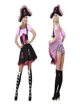 disfraz de pirata divertida mujer