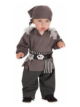 disfraz de pirata esqueleto para bebe