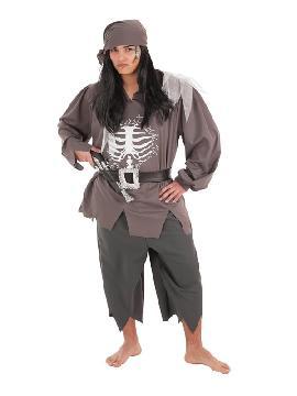 disfraz de pirata esqueleto para hombre