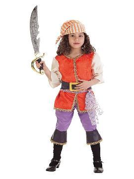 disfraz de pirata filisbustera para niña