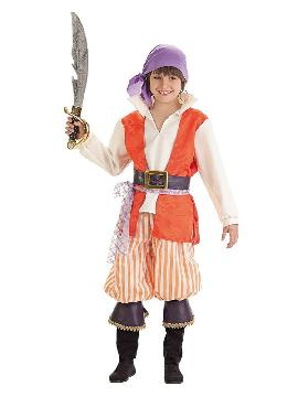 disfraz de pirata filisbustero para niño
