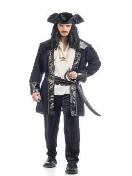 disfraz de pirata henry lujo hombre adulto. Puedes disfrazarte por tu cuenta o combinarte con tu pareja corsario para abordar con salvaje simpatía el Carnaval.Este disfraz es ideal para tus fiestas temáticas de disfraces piratas, bucaneros y corsarios adultos de alta gama