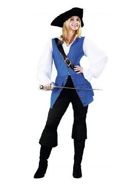 disfraz de pirata mujer azul