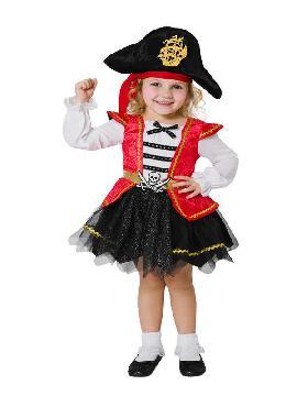 disfraz de pirata caribeña para niña