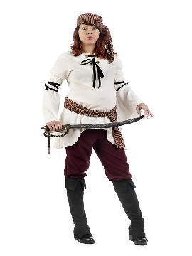 disfraz de pirata premama mujer