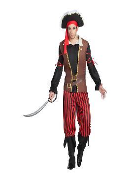 disfraz de pirata rayas hombre