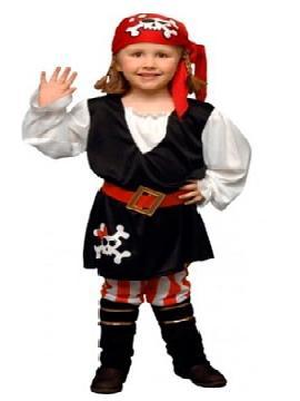 disfraz de pirata rayas niña. Una pequeña bucanera abordará tu hogar. Deja que la peque de la casa se una a la tripulación de la Guardería para ser la protagonista de las fiestas de Carnaval. Este disfraz es ideal para tus fiestas temáticas de piratas y corsarios para infantil.