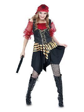 disfraz de pirata roja para mujer