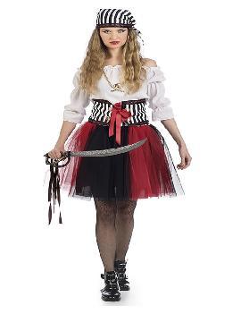 disfraz de pirata tutu mujer. seras una autentica corsaria para viajar por los mares y enfrentarte a tu enemigo. Este disfraz es ideal para tus fiestas temáticas de disfraces de piratas, corsarios y bucaneros adulto. fabricación nacional
