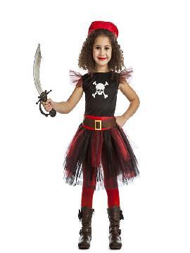 disfraz de pirata tutu niña. Los más pequeños de la familia se convertirán en auténticos bucaneros y se divertirán viviendo mil aventuras con sus amigas en Fiestas de la Guardería. Este disfraz es ideal para tus fiestas temáticas de piratas y corsarios infantiles.