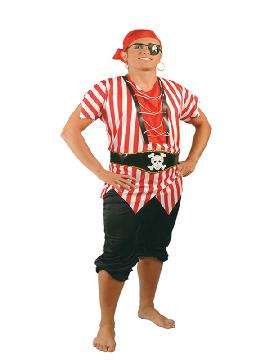 disfraz de pirata ultramar hombre. Puedes disfrazarte por tu cuenta o combinarte con tu pareja corsario para abordar con salvaje simpatía el Carnaval.Este disfraz es ideal para tus fiestas temáticas de disfraces piratas, bucaneros y corsarios adultos.