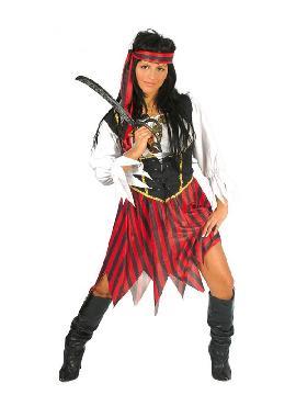 disfraz de pirata ultramar mujer. Puedes disfrazarte por tu cuenta o combinarte con tu pareja corsario para abordar con salvaje simpatía el Carnaval.Este disfraz es ideal para tus fiestas temáticas de disfraces piratas, bucaneros y corsarios adultos.