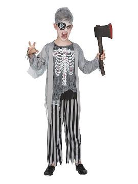 disfraz de pirata zombie para niño