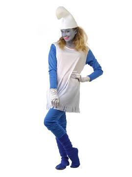 disfraz de pitufa azul mujer