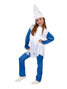 disfraz de pitufa azul niña. Este comodísimo traje de pitufa es perfecto para carnavales, espectáculos, cumpleaños y también para las fiesta de los colegios como fin de curso. Este disfraz es ideal para tus fiestas temáticas de pitufos y cuentos para infantil.