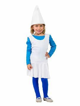 disfraz de pitufina para niña