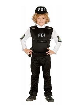 disfraz de policia fbi niño